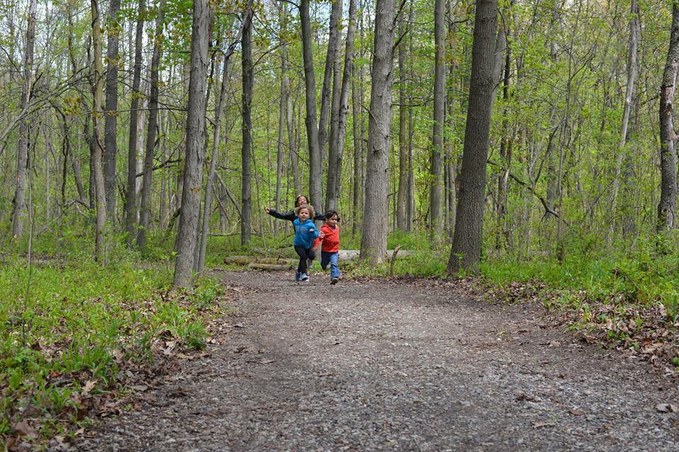 Kids enjoying the Hansen Nature Trail