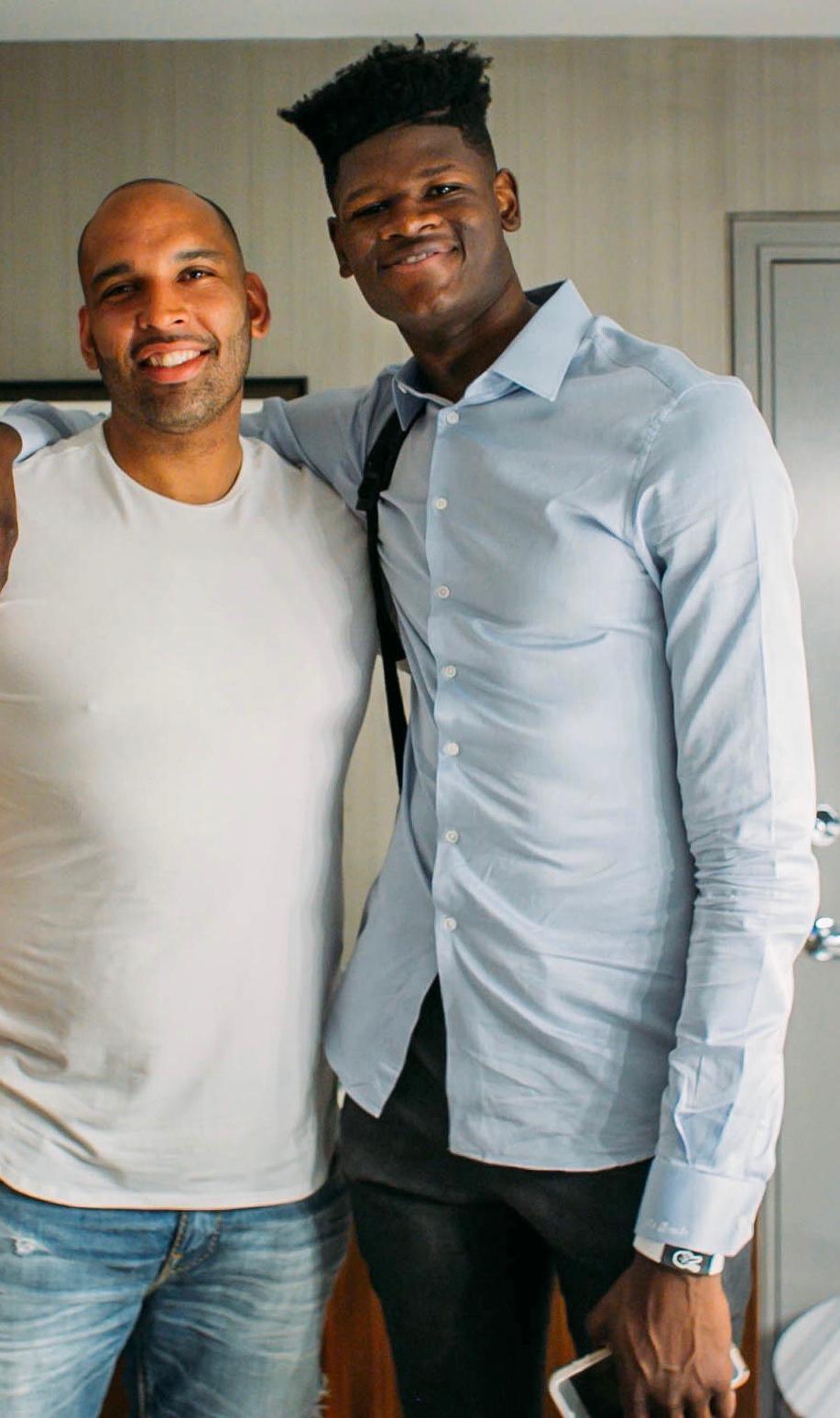 Aaron Johnson and Mo Bamba at the 2018 NBA Draft
