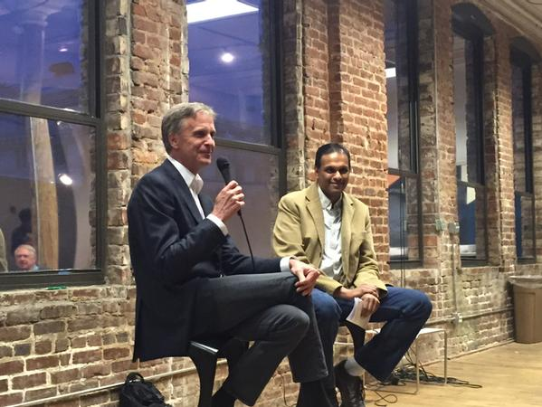 Fireside Chat  with Charles Brewer, founder of Mindspring, and the incomparable  Sanjay Parekh  at the Atlanta Center for Civic Innovation on March 2, 2015 |  Photo: Mike Whitacre