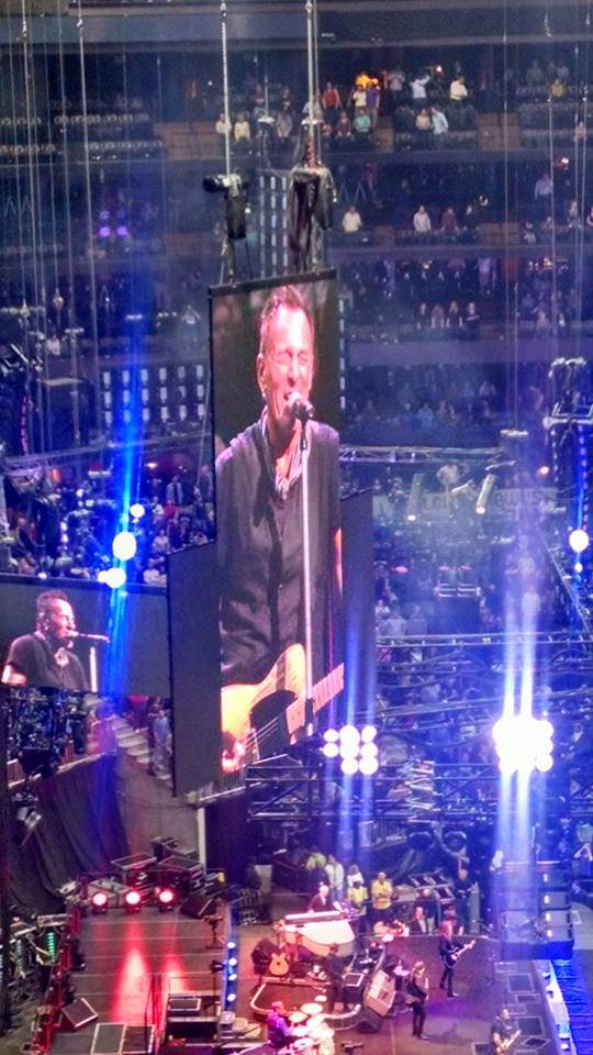 Because when you're far away , you need Bruce on TWO giant screens!