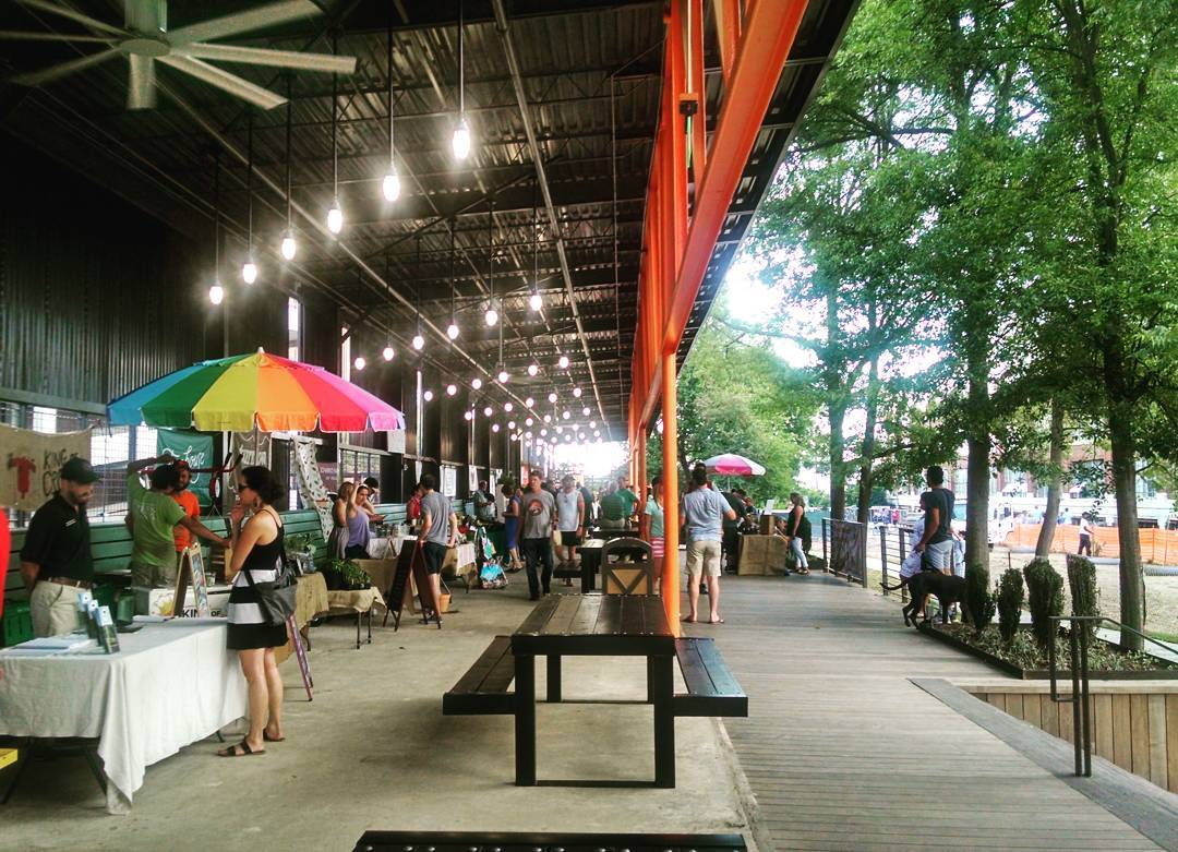 Ponce City Market   runs a farmers market  in The Shed on the BeltLine on Tuesday nights.