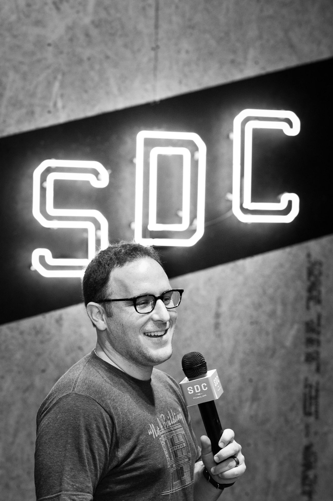 Switchyards  co-founder   Michael Tavani  gears up for the seventh episode of the Consumer Show. |  PHOTO:   Jason Seagle
