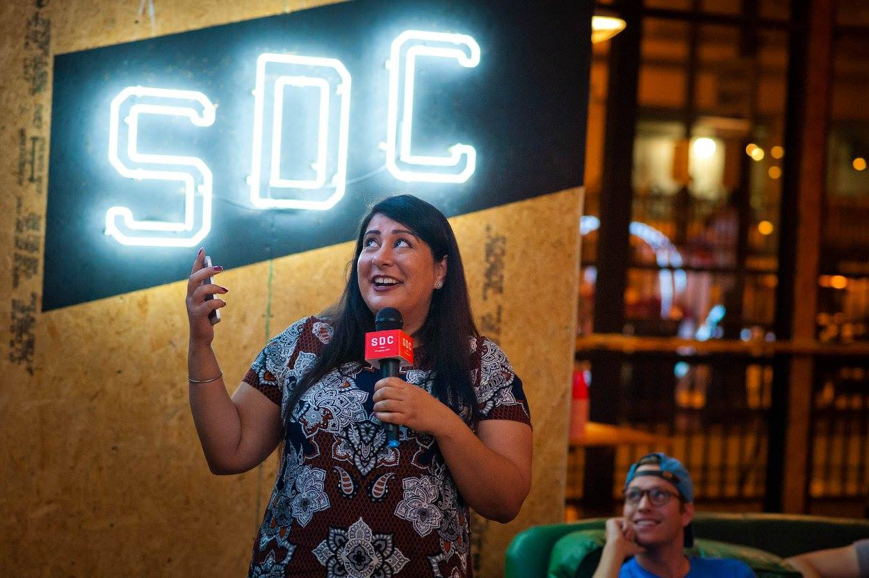 UCiC presenting   at last Thursday's The Consumer Show: TechStars Edition at   Switchyards.   |   PHOTO:    Jason Seagle