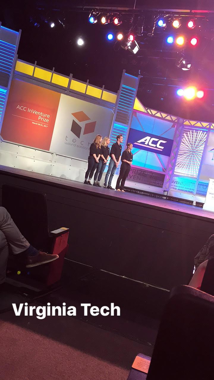 Juliana Downey,  Elisabeth Rebholz,Tucker King and Kim Wyluda with Tech Wound Solutions, Virginia Tech. | PHOTO: Tami McQueen