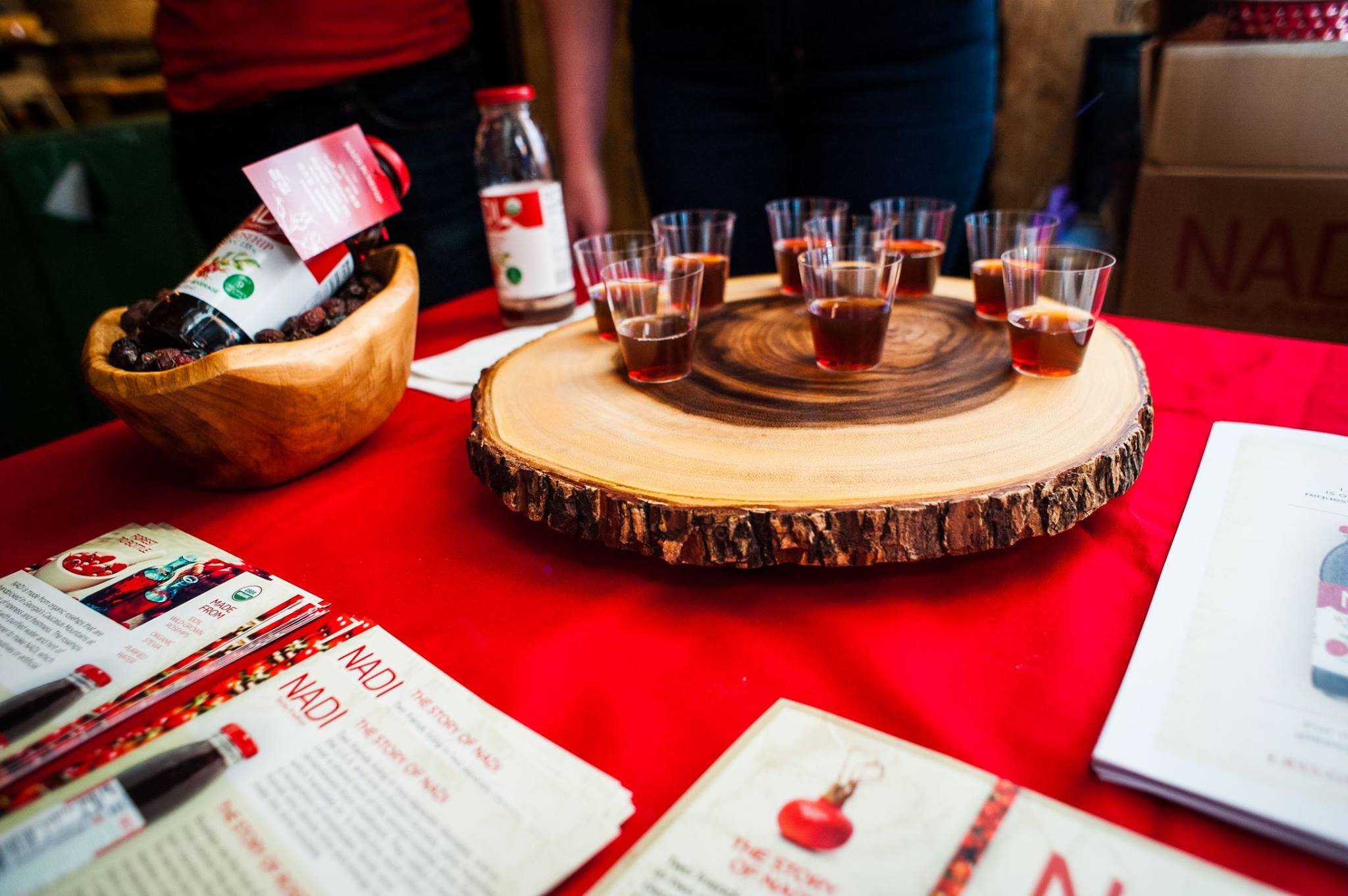 No, these are not shots of whiskey.  They're rosehip shots from NADI. (Yeah, you know you're interested, don't lie.) | PHOTO:  Jason Seagle