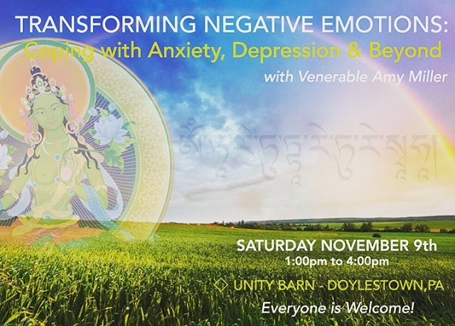 This meditation workshop, taught by @ajmiller108 will explore mindfulness methods derived from Buddha's teachings, that will help us become FEARLESS in the face of adversity. 🌈🌈🌈 Everyone Welcome - No experience necessary!  Space is limited - Preregistration is Required.  1pm this Saturday 11/9 at the UNITY BARN in Doylestown, PA.  Call or visit www.unitybarn.com  #transformation #unitybarn #meditatedoylestown #venamymiller #buddha #dharma #copingwithanxiety #buckscounty #happiness #fearless #letgoofanxiety