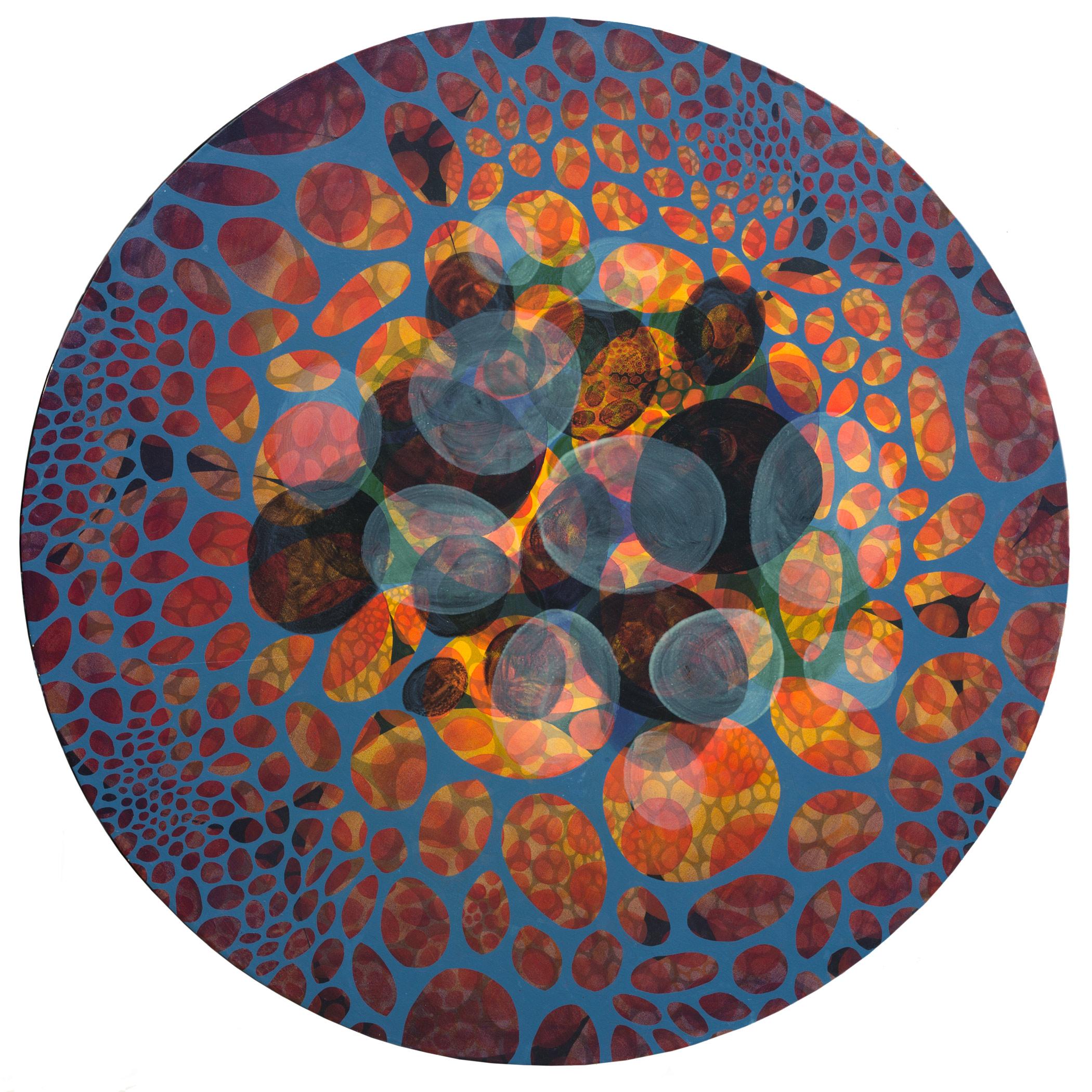 "Pilkut  72"" diameter  Oil on Canvas"