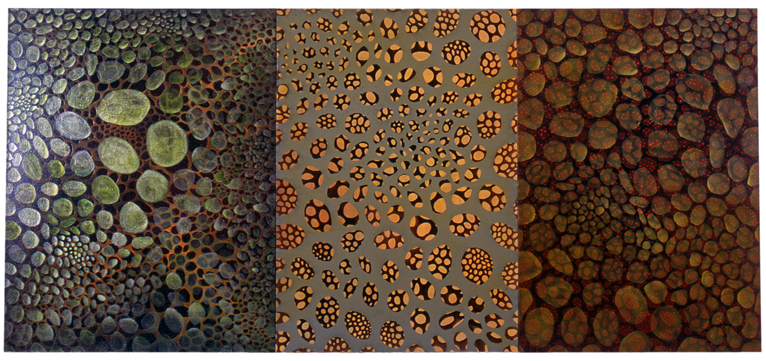 "Virta  56 x 108"" (triptych)  Oil on Canvas"