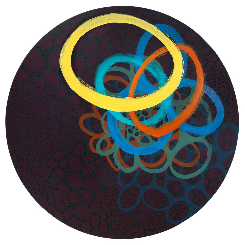 """Kaamos 1  72"""" diameter  Oil on Canvas"""