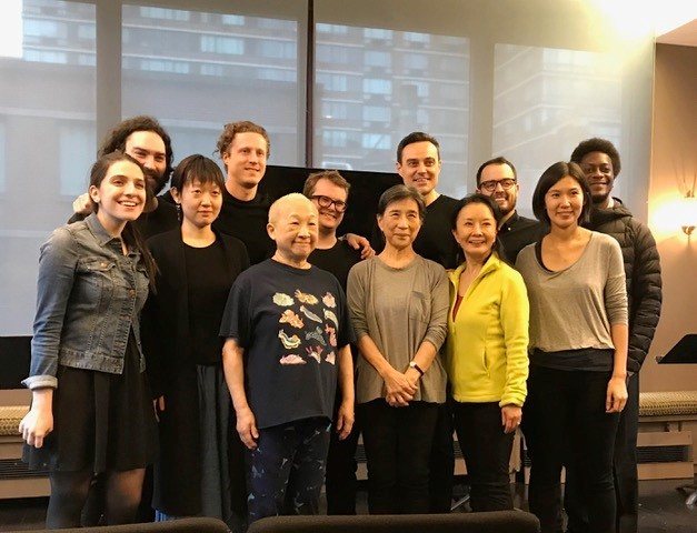 from L to R: Sammi Cannold (director), Matthew Dunivan, Celine Song (playwright), Andy Talen, Lori Tan Chinn, Jack Phillips Moore, Wai Ching Ho, Matt W. Cody, Ako, Matt DaSilva, Jiehae Park, Norman Anthony Small (stage manager)