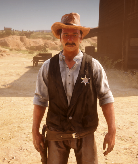 the voice of Sheriff Palmer in    RED DEAD REDEMPTION 2