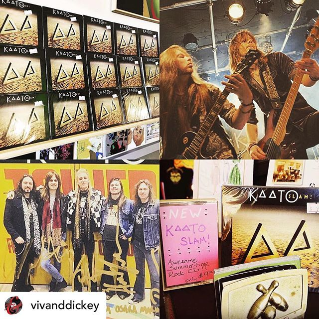 Thanks to @vivanddickey for spreading the good word! ❤️ We absolutely LOVE these guys and they've been super supportive of us.  If you're in Nashville pop down and pay them a visit, their store is an absolute treasure trove!! ✨🏴☠️ • @vivanddickey Come by and snag a copy of this MONSTER CD!  I'm working hard to get the word out because it's that good and we believe everyone should enjoy it ❤️ goosebumps guaranteed😊As far as we know, we are the only store in the US that is carrying it. Get your copy soon and support your indie stores and Artists. We are open until 6pm and reopen next Thursday! $9 in the store or we can ship for an additional $3. US Only (DM for info). We open at 11am to 7pm. @kaatoband @kurt.lowney @mikanuutinen @hunterlovan @cwilliamsdrums #recordstore #kaato #slam #picoftheday #metalmusic #records #music #recordshop #newmusic #instamusic #peggycarter #record #indie #independentartist #musician #guitar #vocalist #bassguitar #powerpop #Glam #rockandroll #love #rock #agentcarter #vinylgram #nashville #musiccity #love #vivanddickeysoldiesandgoodies