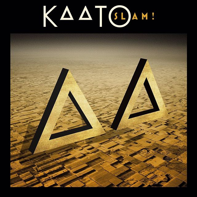 "KAATO's new album ""Slam!"" Is available everywhere now. Check it out at the link in our bio!  #kaato #rocknroll #newmusic #glamrock #rockband #rockmusic #albumcover #hardrock"