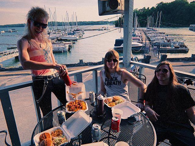 BBQ Rendezvous ☀️🍗 . . . . . . #kaato #rocknroll #barbeque #nashville #summer #glamrock #chicken #music #rockband #newmusic #beer #sun #hardrock