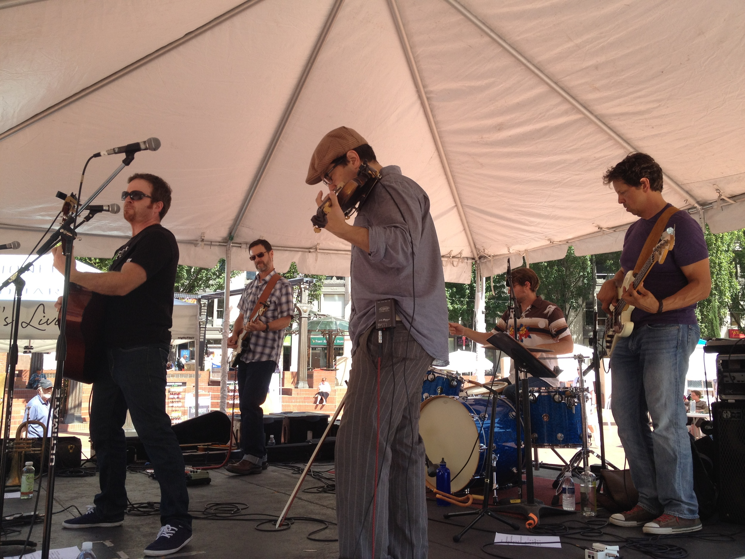 Live at KINK-FM's Noon Tunes, Pioneer Courthouse Square, Portland, OR.