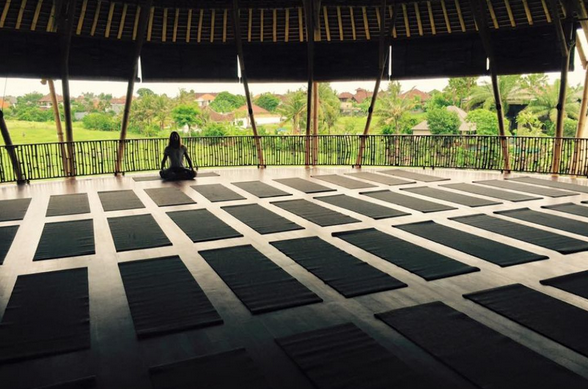 The main studio at the Practice in Canggu, best yoga study i have been.