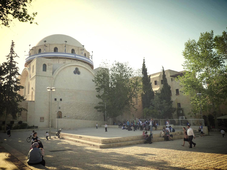 hurva synagogue, jewish quarter, old city jerusalem