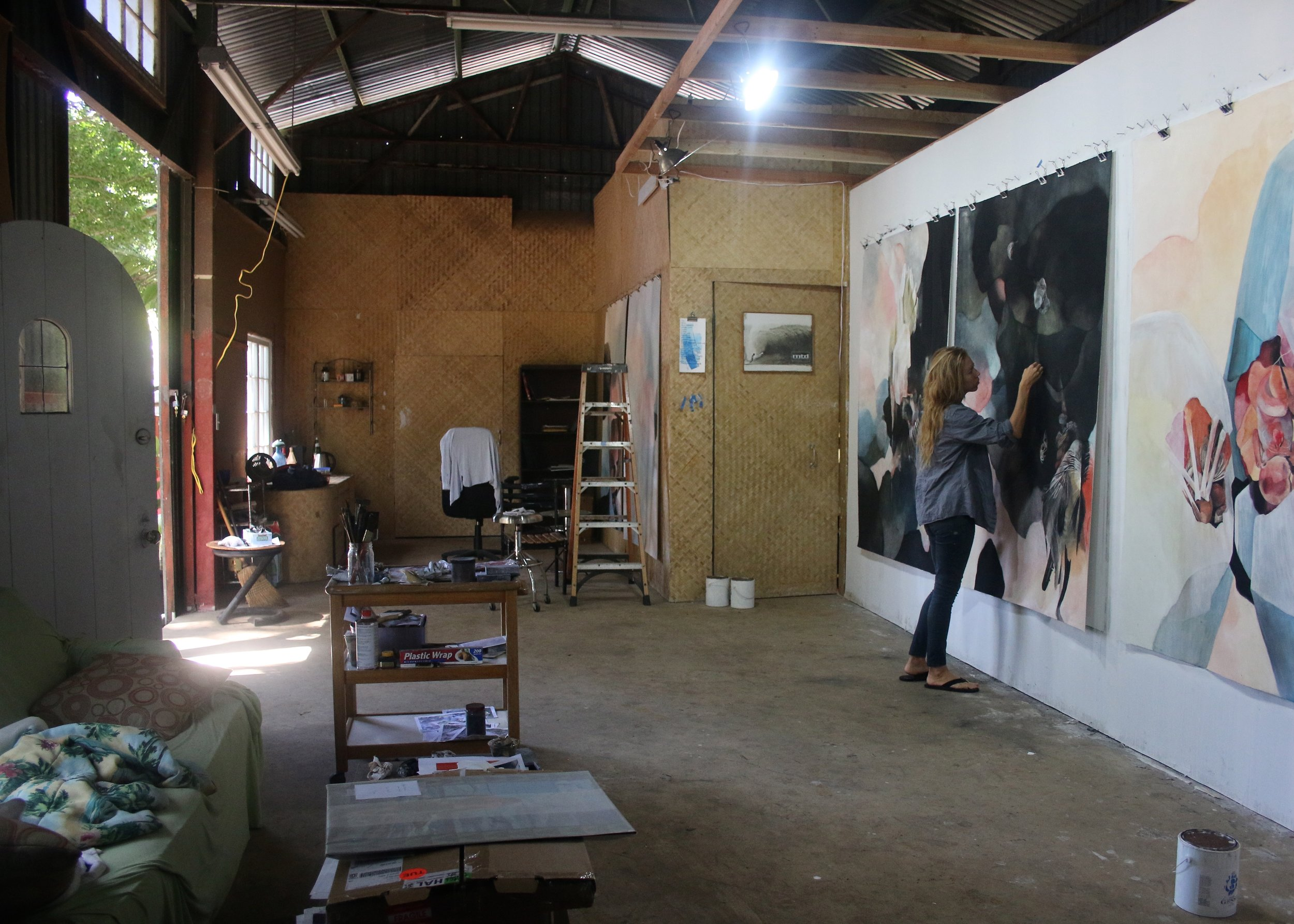 McIlroy at work in her studio