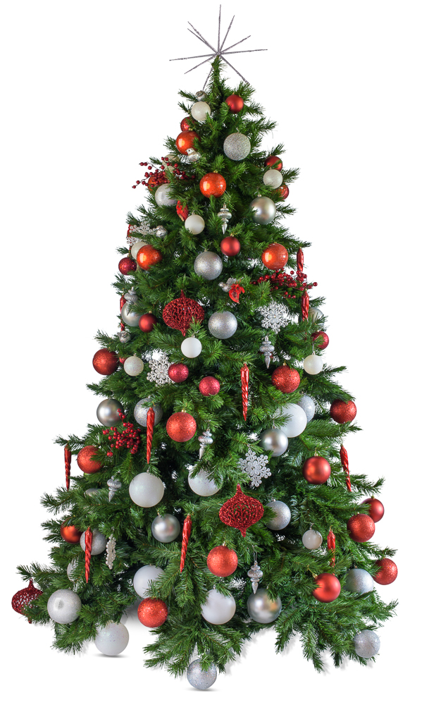 Noel artificial decorated Christmas tree