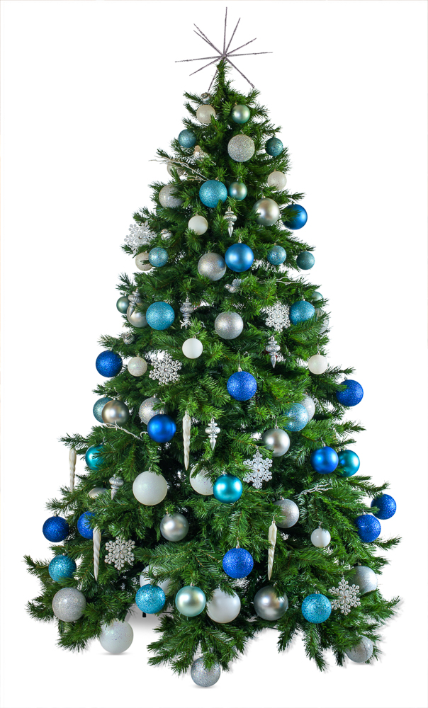 Winter Wonderland artificial decorated Christmas tree