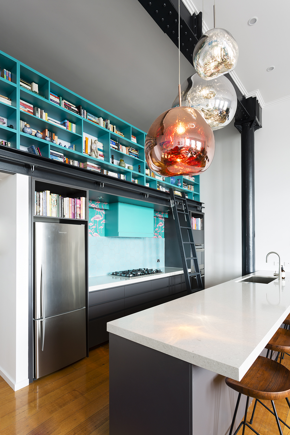 Tom Dixon lights kitchen interior designer melbourne