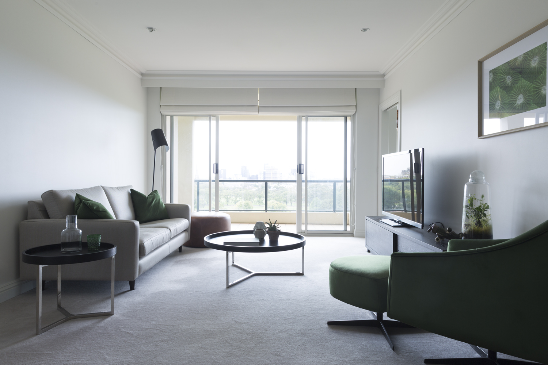 Melbourne apartment lounge design by interior designer Meredith Lee