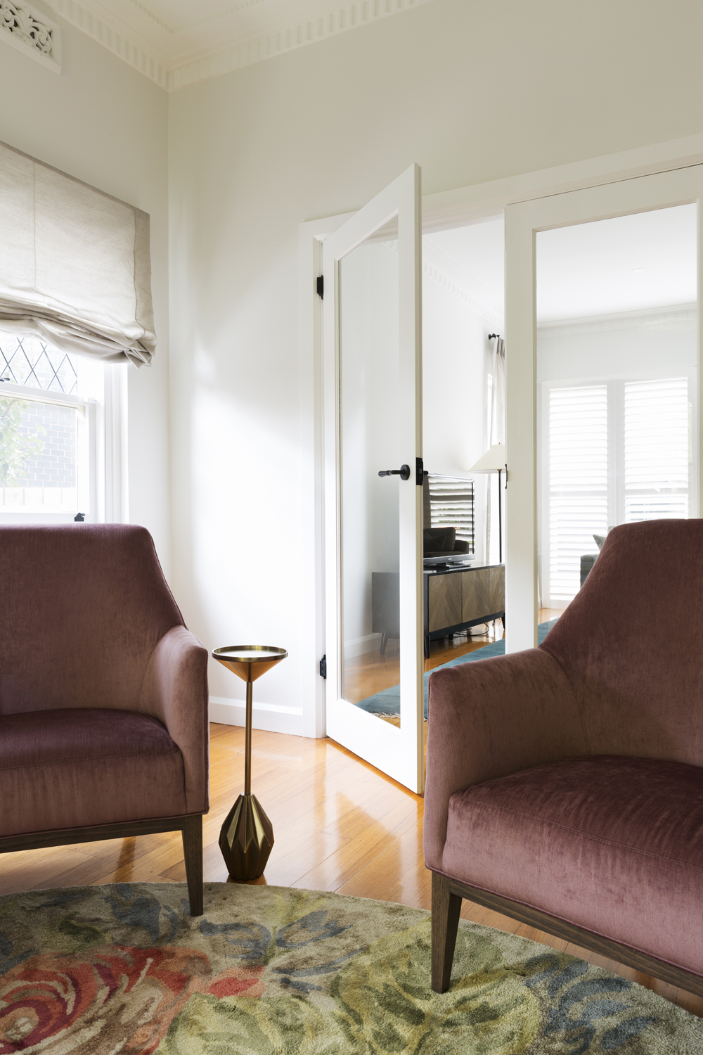 Ashburton sitting room makeover by Melbourne interior designer Meredith Lee.