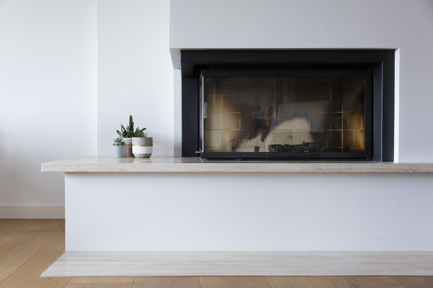 Red Hill house renovation. Fireplace and interior design by interior designer Meredith Lee.