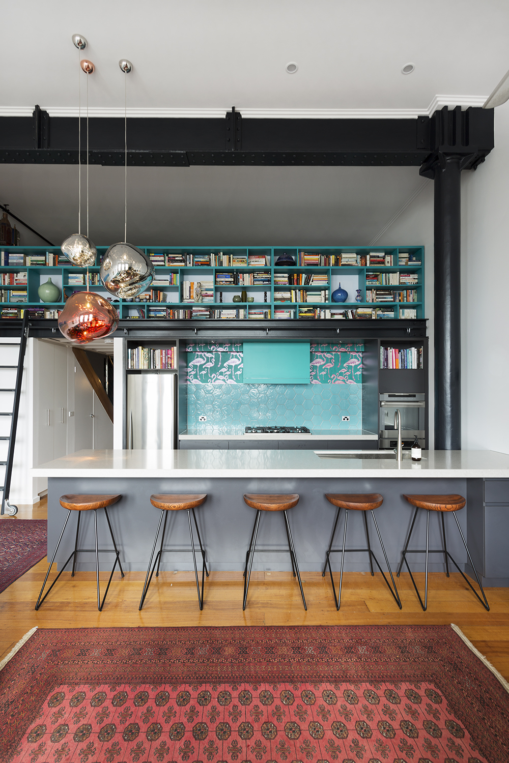Kitchen designer and interior designer Melbourne. Collingwood warehouse apartment renovation