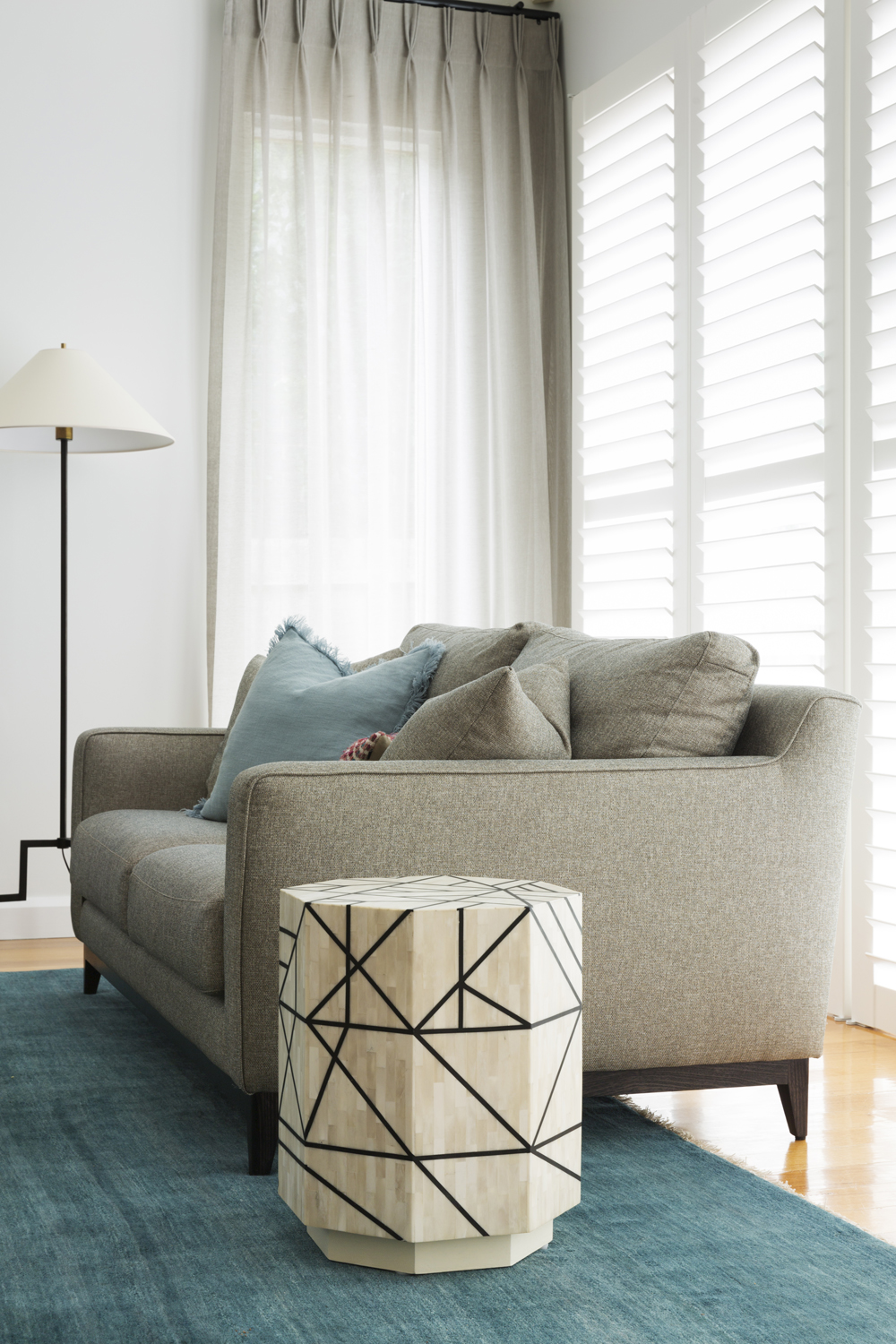 Curtains and shutters by Melbourne interior designer Meredith Lee