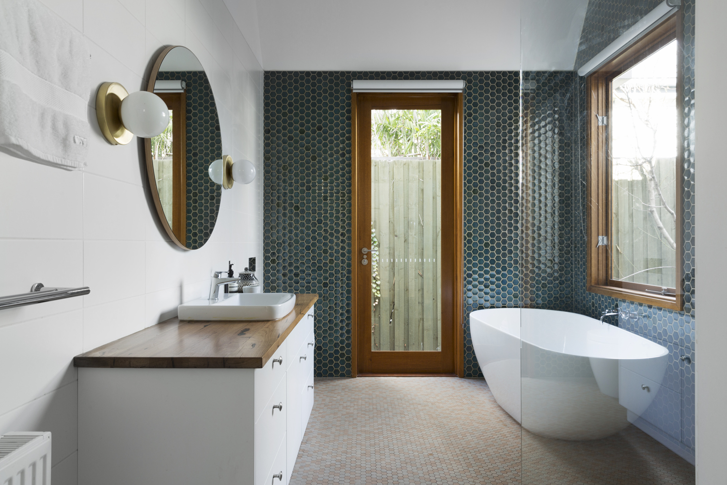 Clifton Hill house extension bathroom design by Melbourne interior designer and interior decorator Meredith Lee