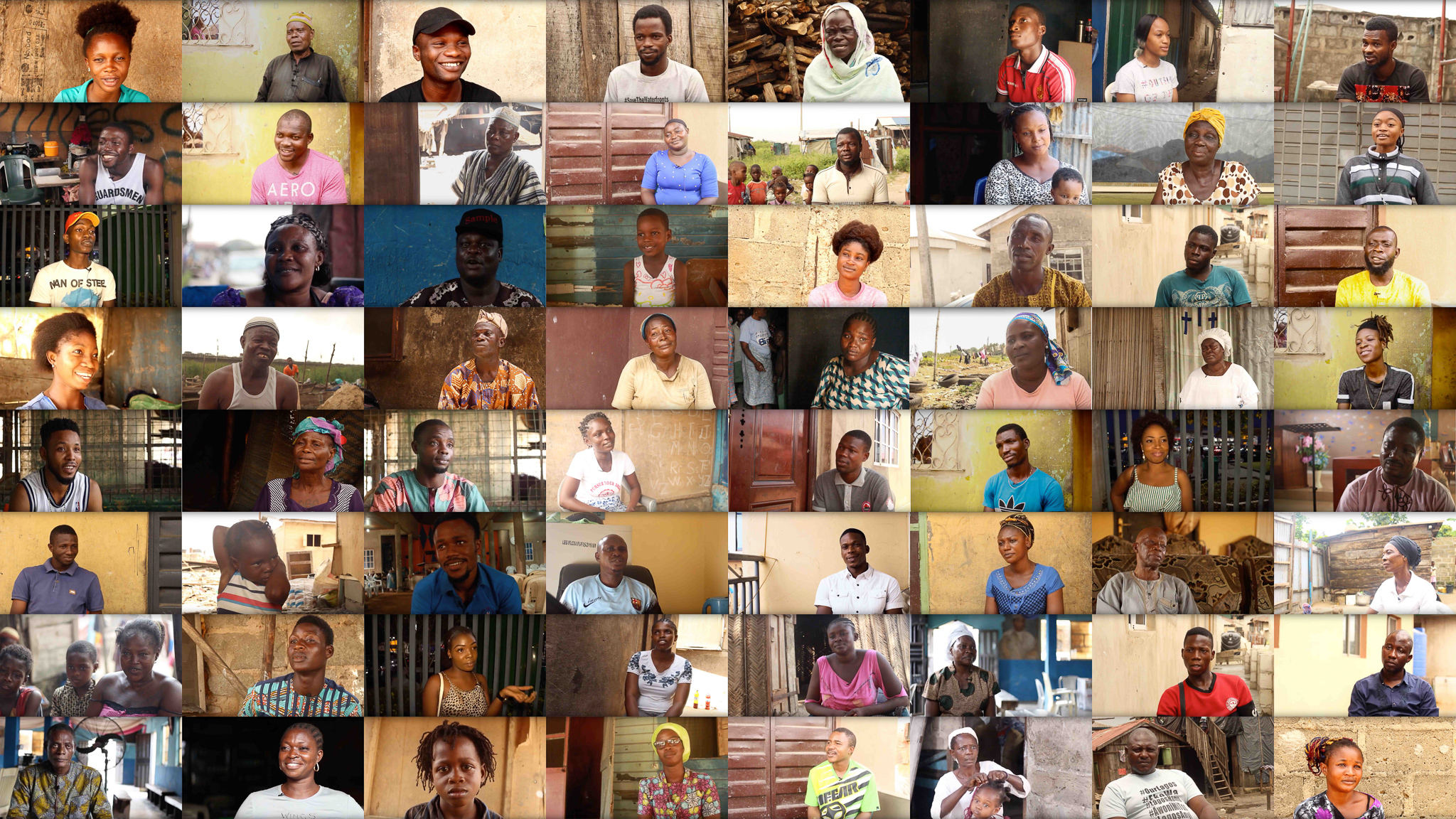 - The film's story is a mosaic of the environment from which it emerges. The plot is shaped by the lived experiences of community members of Lagos's informal settlements, and the central characters were constructed through building 72 interviews of community members into a cast of characters that reflect the faces and stories of Lagos's slum communities.