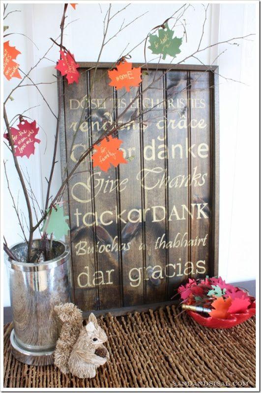 Gratitude tree via Sand & Sisal