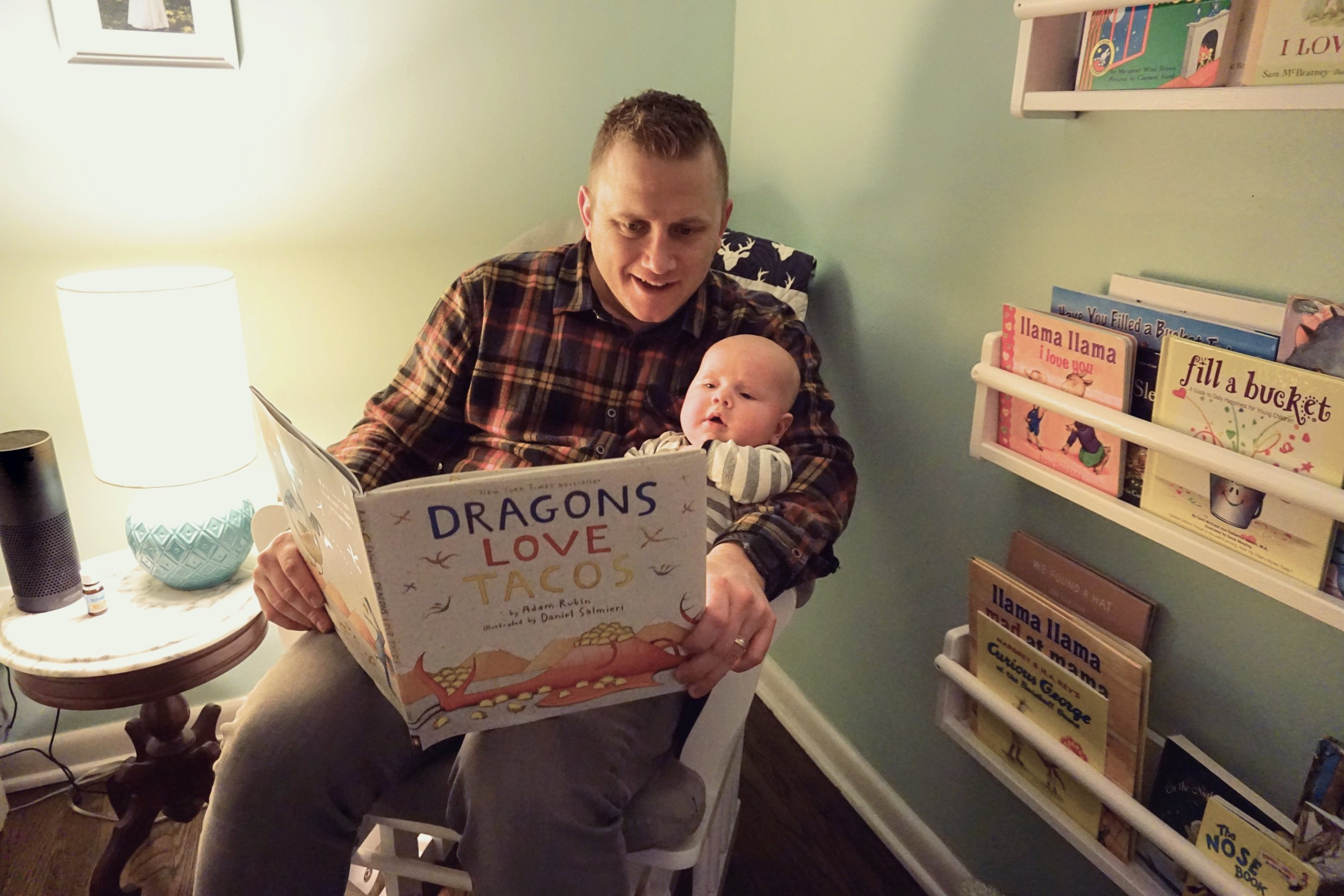 Dad's the best at bedtime stories