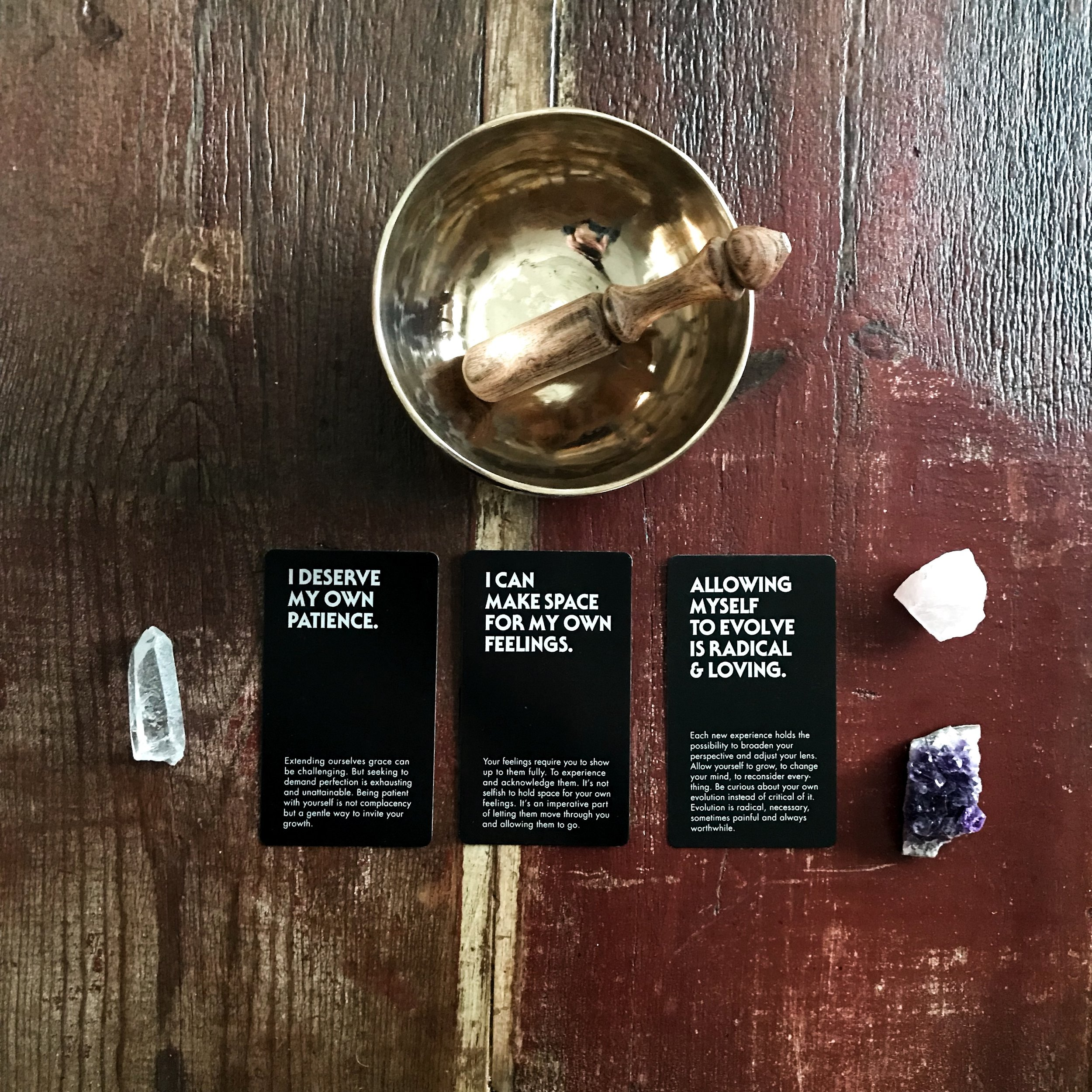 March intention setting - Affirmation deck by Erin Brown