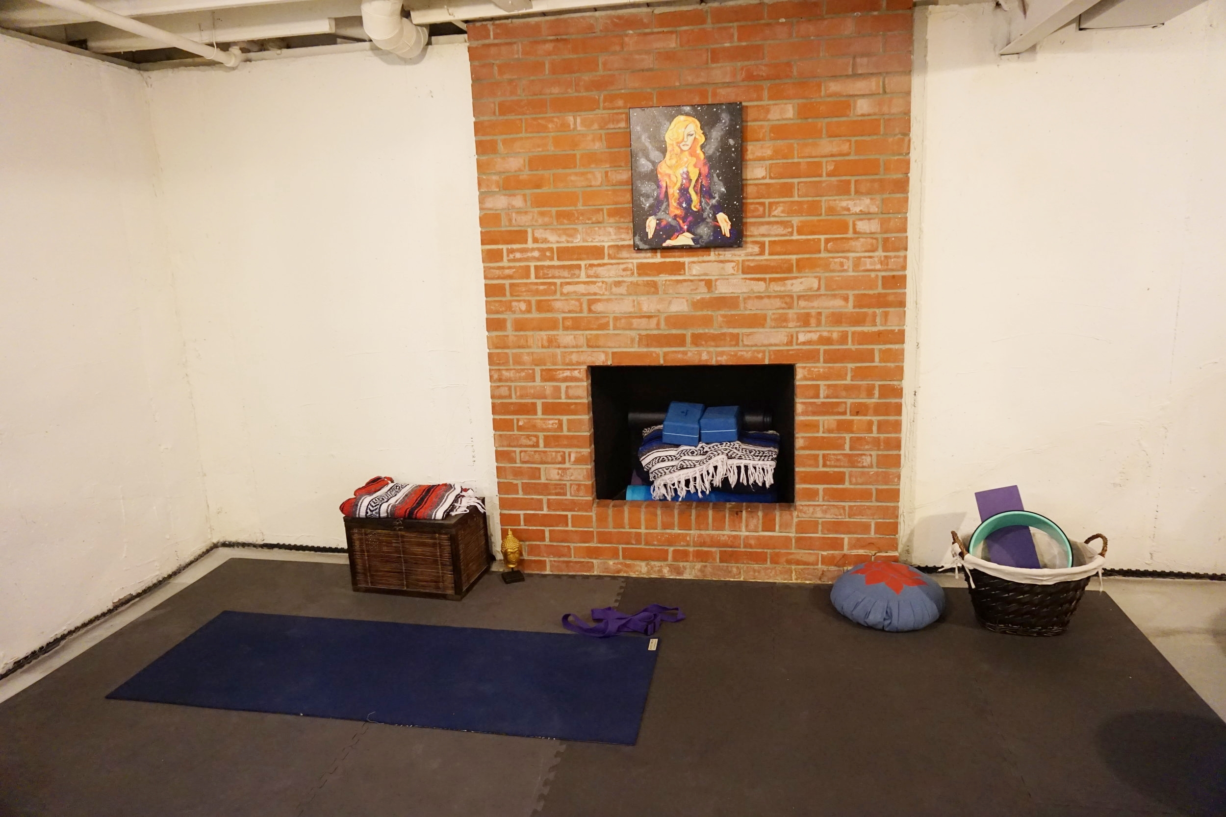 Believe it or not this is the same space. You might recognize it from YouTube. I just don't show the rest of the basement. :)