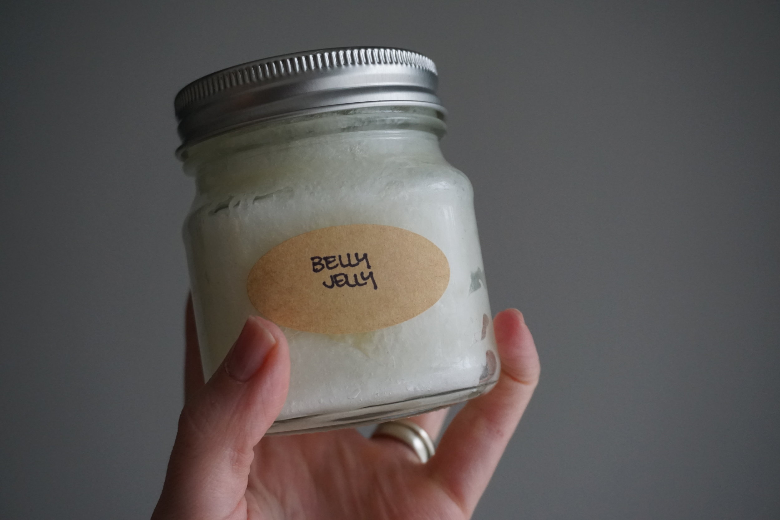 DIY skin-firming belly jelly two ways (one for C-section mamas!) - Postpartum lotion I use and love