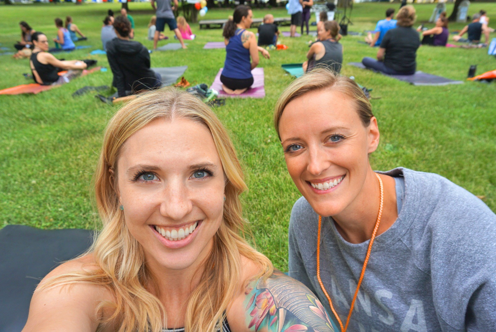 Amie and I met during yoga teacher training. I can't believe that was four years ago.