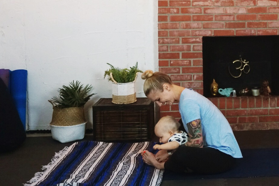 The reality of practicing yoga with a baby