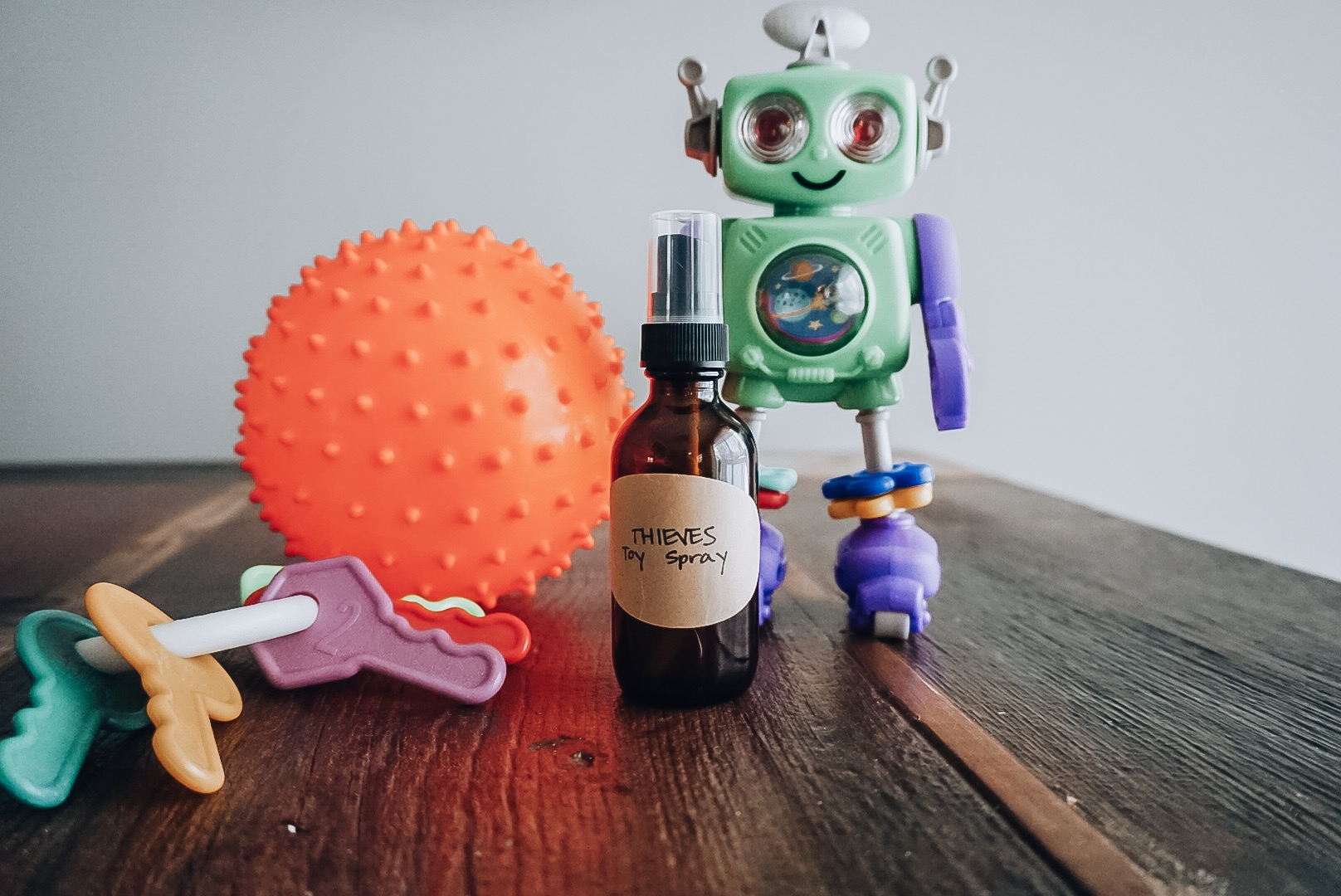 DIY Thieves Toy Spray for Babies and Toddlers - Yoga Mama Bear blog