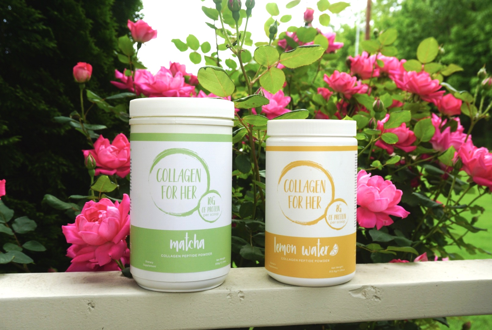Collagen for Her Matcha and Lemon Water Review - Yoga Mama Bear