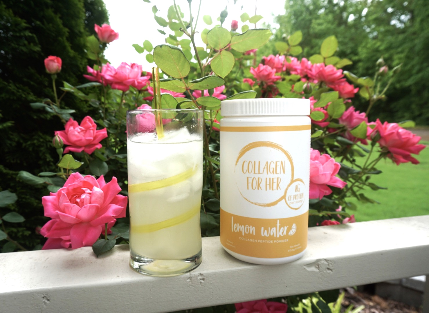 Collagen for Her Lemon Water Review - Yoga Mama Bear