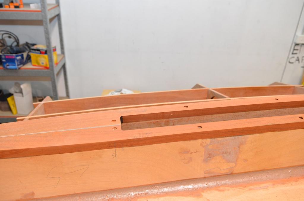 Cutout around the centreboard case.