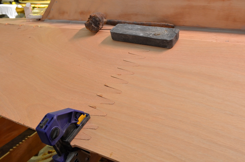 Dry fitting the forward end to the rest of the plank.