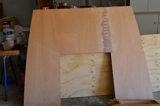 Cabin roof panel made from 2 cnc cut pieces.