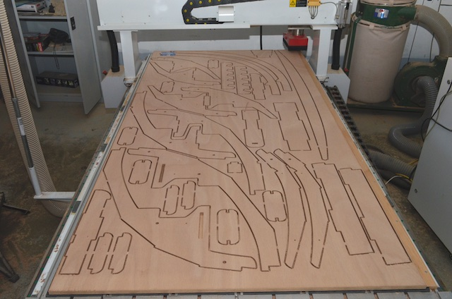 15mm plywood sheet after cnc cutting
