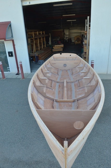 Hull ready for painting to begin.