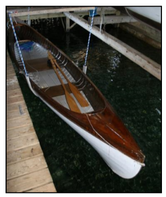 Photo 4: The Booby is symmetrical fore and aft and is a stunning boat. It can be rowed solo or double and can take a load. It is fast and powerful and oneof the most seaworthy of the series owing to its size.