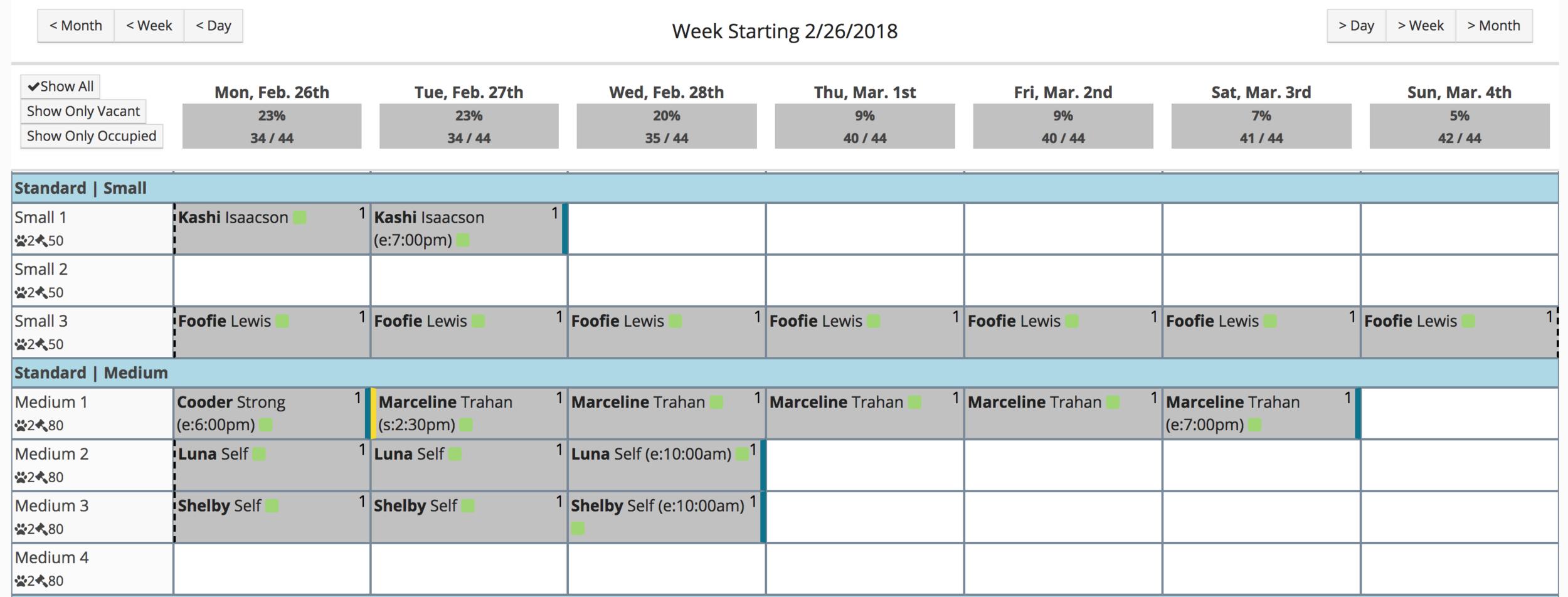 gingr pet reservation boarding app lodging kennel run calendar