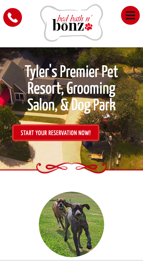"This responsive website maintains the call to action ""Start Your Reservation"" in the upper-left-hand part of the page for easy viewing on a mobile device."